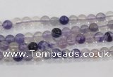 CFL200 15.5 inches 4mm round purple fluorite gemstone beads wholesale