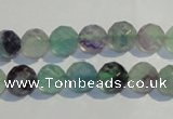 CFL252 15.5 inches 8mm faceted round natural fluorite beads