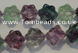 CFL482 15.5 inches 10*10mm carved cube natural fluorite beads