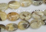 CFS202 15.5 inches 10*14mm oval natural feldspar gemstone beads