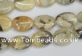 CFS210 15.5 inches 12*16mm oval natural feldspar gemstone beads