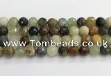 CFW221 15.5 inches 12mm faceted round flower jade beads