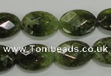 CGA109 15.5 inches 13*18mm faceted oval natural green garnet beads