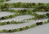 CGA121 15.5 inches 3mm faceted round natural green garnet beads