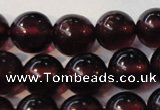 CGA358 15 inches 5mm round natural red garnet beads wholesale