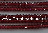 CGA516 15.5 inches 1.5*2.5mm faceted rondelle red garnet beads