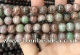 CGA687 15.5 inches 12mm round kashgar garnet beads wholesale