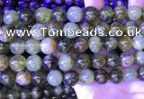 CGA703 15.5 inches 12mm round green garnet beads wholesale