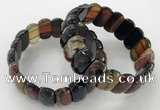 CGB3123 7.5 inches 10*20mm faceted oval agate bracelets