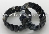 CGB3152 7.5 inches 11*23mm faceted oval agate bracelets