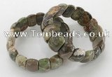 CGB3228 7.5 inches 12*20mm oval rainforest agate bracelets