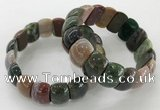 CGB3229 7.5 inches 12*20mm oval Indian agate bracelets