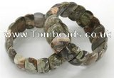 CGB3249 7.5 inches 12*25mm oval rainforest agate bracelets