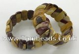 CGB3251 7.5 inches 12*25mm oval mookaite gemstone bracelets