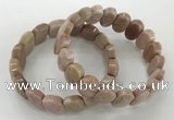 CGB3274 7.5 inches 10*15mm faceted oval rhodochrosite bracelets