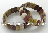CGB3299 7.5 inches 10*20mm faceted oval mookaite bracelets