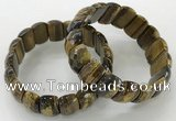 CGB3301 7.5 inches 10*20mm faceted oval yellow tiger eye bracelets