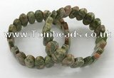 CGB3317 7.5 inches 10*20mm faceted oval unakite bracelets
