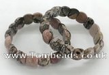 CGB3378 7.5 inches 10*15mm oval rhodonite bracelets wholesale