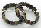 CGB3466 7.5 inches 10*14mm faceted oval mixed tiger eye bracelets