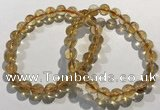 CGB4023 7.5 inches 8mm round citrine beaded bracelets wholesale