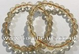 CGB4029 7.5 inches 8mm round citrine beaded bracelets wholesale