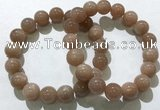 CGB4062 7.5 inches 12mm round sunstone beaded bracelets