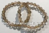 CGB4077 7.5 inches 8mm round golden rutilated quartz beaded bracelets