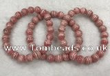CGB4123 7.5 inches 8.5mm - 9mm round rhodochrosite beaded bracelets