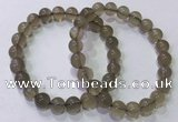 CGB4521 7.5 inches 8mm round grey moonstone beaded bracelets