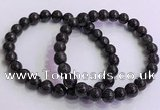CGB4576 7.5 inches 8mm round black sunstone beaded bracelets