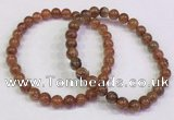 CGB4606 6mm - 7mm round golden rutilated quartz beaded bracelets