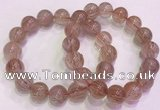 CGB4635 13mm - 14mm round red rutilated quartz beaded bracelets