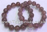 CGB4644 13mm - 14mm round red rutilated quartz beaded bracelets