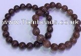 CGB4646 9mm - 10mm round red rutilated quartz beaded bracelets