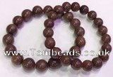 CGB4647 10mm - 11mm round red rutilated quartz beaded bracelets