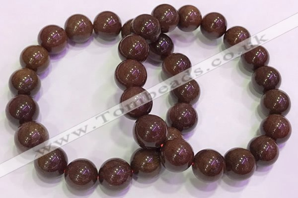 CGB4648 12mm - 13mm round red rutilated quartz beaded bracelets