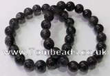CGB4653 10mm - 11mm round black rutilated quartz beaded bracelets