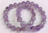 CGB4658 11mm - 12mm round purple phantom quartz beaded bracelets