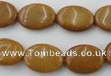 CGJ314 15.5 inches 13*18mm oval goldstone jade beads wholesale