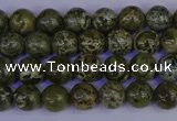 CGJ350 15.5 inches 4mm round green bee jasper beads wholesale