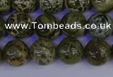 CGJ353 15.5 inches 10mm round green bee jasper beads wholesale