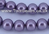 CGL142 10PCS 16 inches 4mm round dyed glass pearl beads wholesale