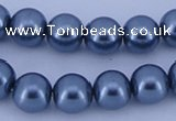 CGL239 5PCS 16 inches 18mm round dyed plastic pearl beads wholesale