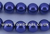 CGL264 10PCS 16 inches 8mm round dyed glass pearl beads wholesale
