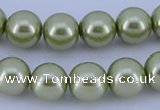 CGL363 10PCS 16 inches 6mm round dyed glass pearl beads wholesale