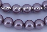 CGL391 2PCS 16 inches 25mm round dyed plastic pearl beads wholesale