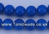 CGL813 10PCS 16 inches 6mm round heated glass pearl beads wholesale