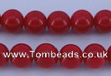 CGL850 10PCS 16 inches 8mm round heated glass pearl beads wholesale