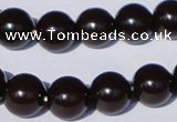 CGL896 10PCS 16 inches 4mm round heated glass pearl beads wholesale